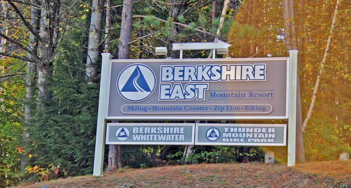 Berkshire East Sign Charlemont Ma Greenfield Massachusetts Real