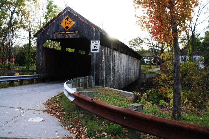 Covered Bridge Conway Ma Greenfield Massachusetts Real